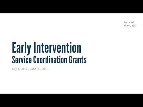 EI Service Coordination Grant Recorded Webinar (Updated 2018)