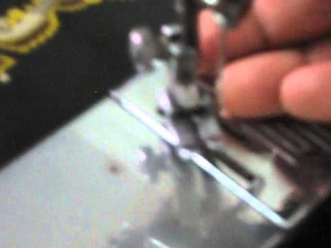 How to change normal sewing machine  foot to piping foot