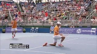Bob Bryan Pulls Off Reflex Smash In Delray Beach Final