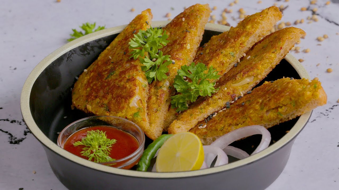 Moong Dal Toast | Easy Breakfast Recipe | मूंग दाल टोस्ट | तुरंत बनने वाली  रेसिपी हिंदी में | - YouTube
