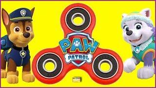 Paw Patrol FIDGET SPINNER GAME Skye, Chase, Marshall, Hatchimals Surprise Toys Wheel Games
