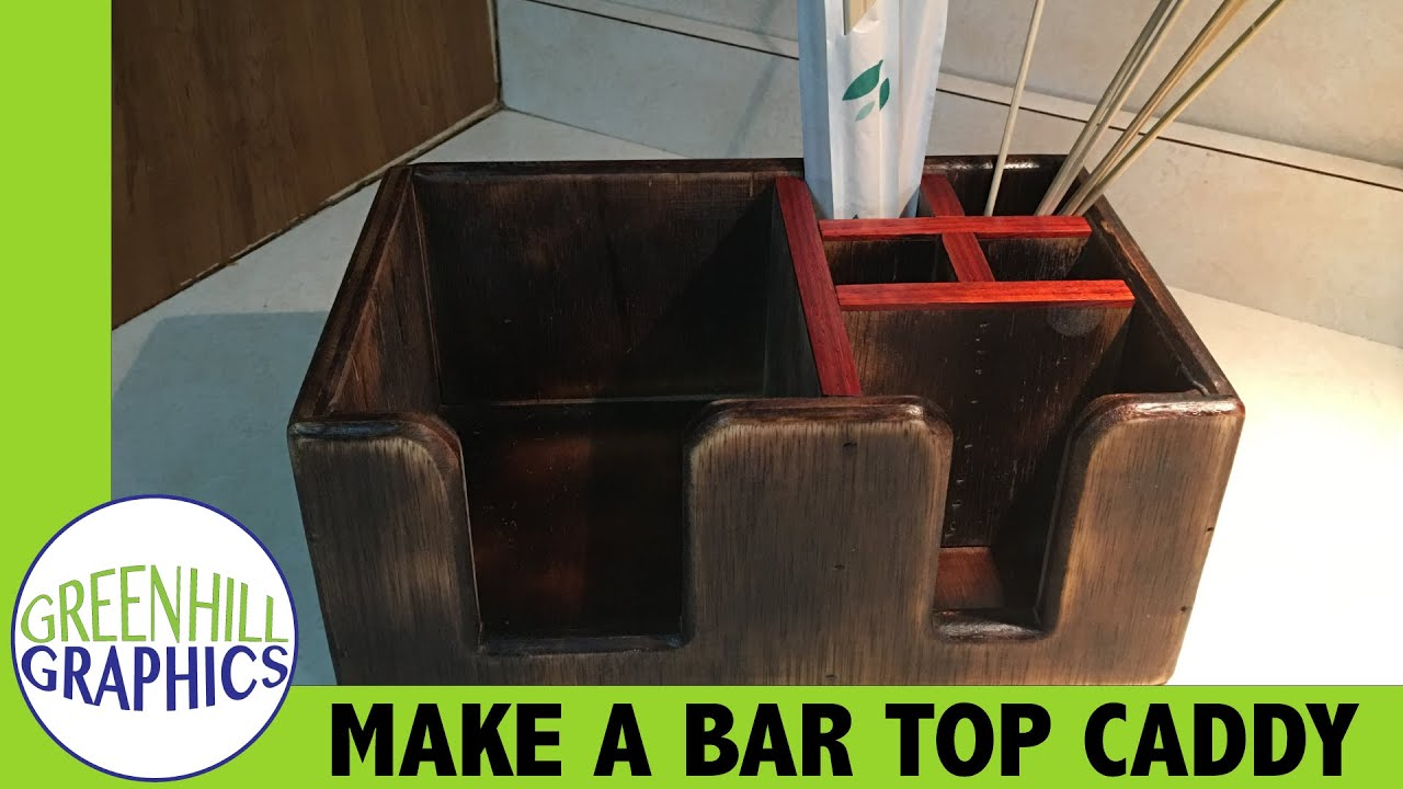 Making A Bar Top Napkin And Straw Holder / Caddy