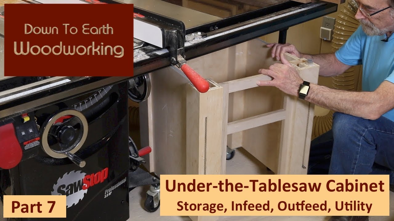 Under Table Saw Storage Cabinet Part 7 Youtube