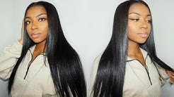 Affordable Clip-In Hair Extensions (INSTALLING + STRAIGHTENING) | AmazingBeautyHair.com