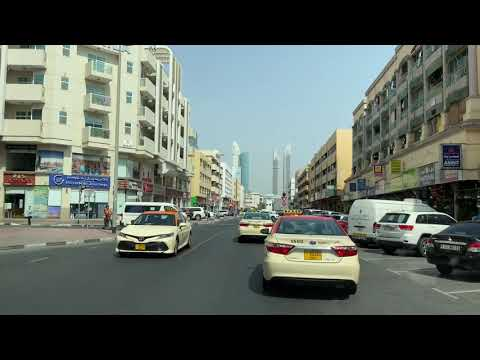 #Dubai 4K- Drive To Satwa Place  – Bur Dubai/ Downtown- Market- shops / July 2021سطوة  دبي #UAE