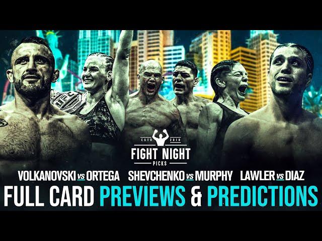 UFC 266: Volkanovski vs. Ortega Full Card Previews & Predictions