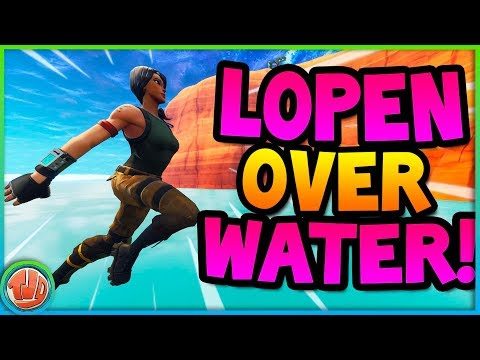 *GLITCH* OVER WATER HEEN LOPEN!! - Fortnite: Battle Royale