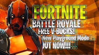 🔴 Fortnite Battle Royale New Playground LTM Coming Today Finally!!! | 7,500 v-bucks Giveaway!!!