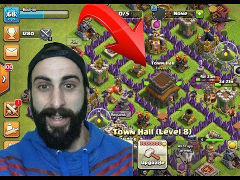 Clash Of Clans Greek~Town Hall Level 8~By Bodrini