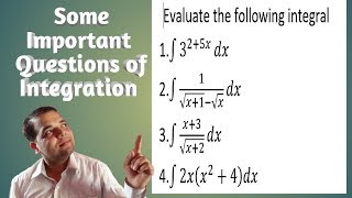 Some Important Question of integration--part 5 | Substitution Method |