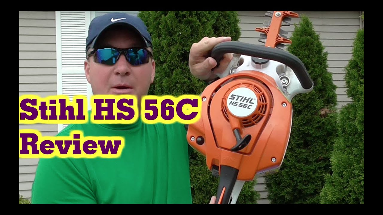 stihl hs 56c professional gas hedge trimmer review youtube. Black Bedroom Furniture Sets. Home Design Ideas