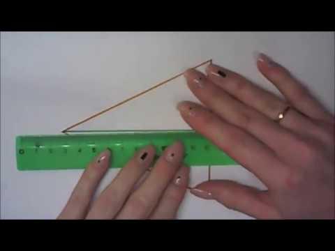 Как построить равнобедренный треугольник