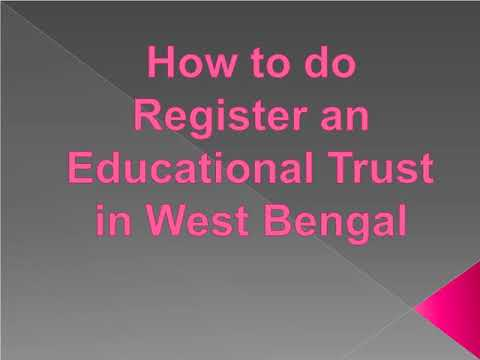 procedure-of-educational-trust-registration-in-west-bengal-for-all-india-basis-work