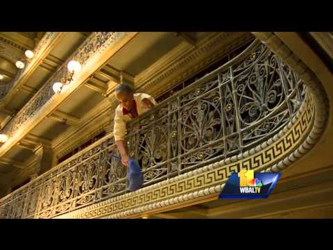 George Peabody Library gets cleaned