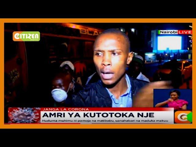 Hundreds of Kenyans fail to beat the 7pm deadline