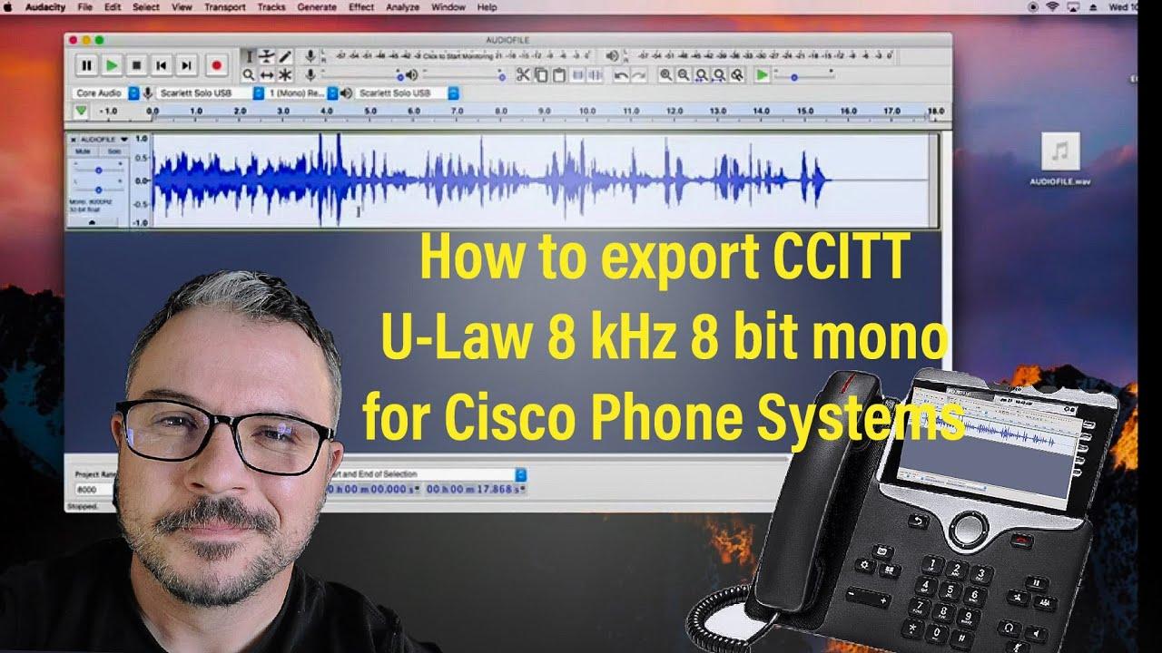 Exporting to CCITT 8khz 8 bit mono U-Law  Wav file in Audacity