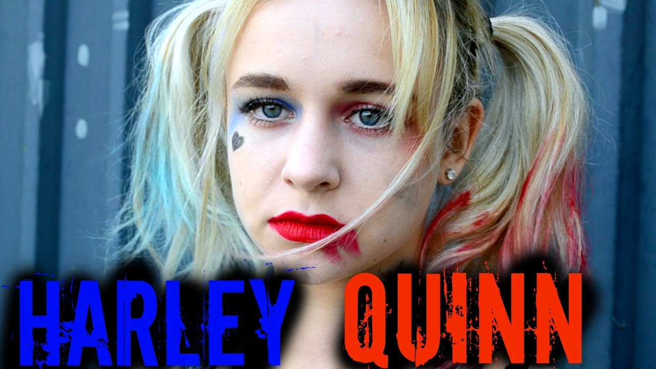 maquillage d 39 halloween facile harley quinn youtube. Black Bedroom Furniture Sets. Home Design Ideas