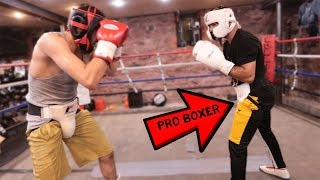 My Sparring Match AGAINST MY COACH! (PROFESSIONAL BOXER)