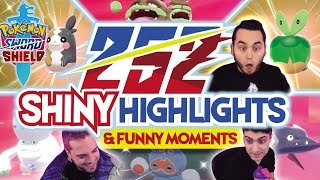 252 SHINY MONTAGE! Pokemon Sword and Shield Epic Shiny Reactions and Funny Moments!