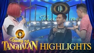 Tawag ng Tanghalan Vice competes against daily contender Joey in English speaking