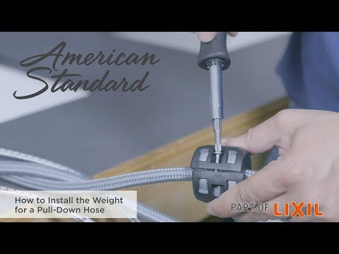 How To Install The Weight For A Pull-Down Hose