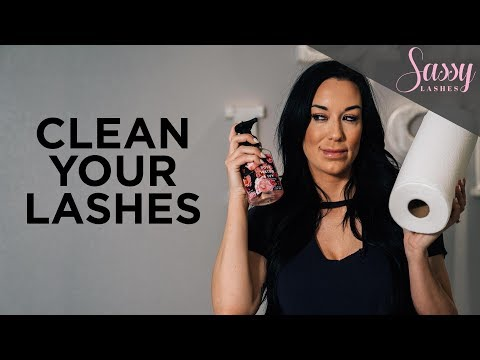 How To Clean Eyelash Extensions At Home | Eyelash Cleanser for Extensions