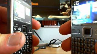 Free video calling on Nokia E72(Free videocalls on Nokia E72 works well, also you can connect your Yahoo Messenger account, Twitter or Gtalk. Have fun!, 2011-07-16T12:04:32.000Z)