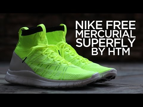 eee8b3e7c9b Closer Look  Nike Free Mercurial Superfly by HTM - Volt - YouTube