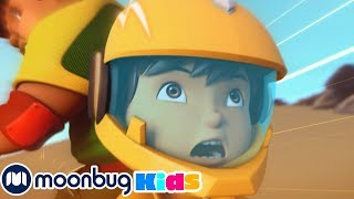 Boboiboy Galaxy S1 E03 - Travelling to Planet Gurunda | Moonbug Kids TV Shows | Cartoons For Kids