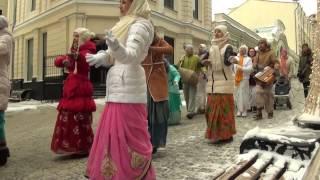 Харинама на улицах москвы, 14 января 2017 года
