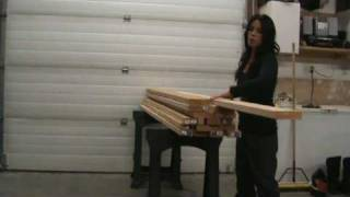 Furniture designer/builder Ana White demonstrates how to select good boards for your furniture building projects.
