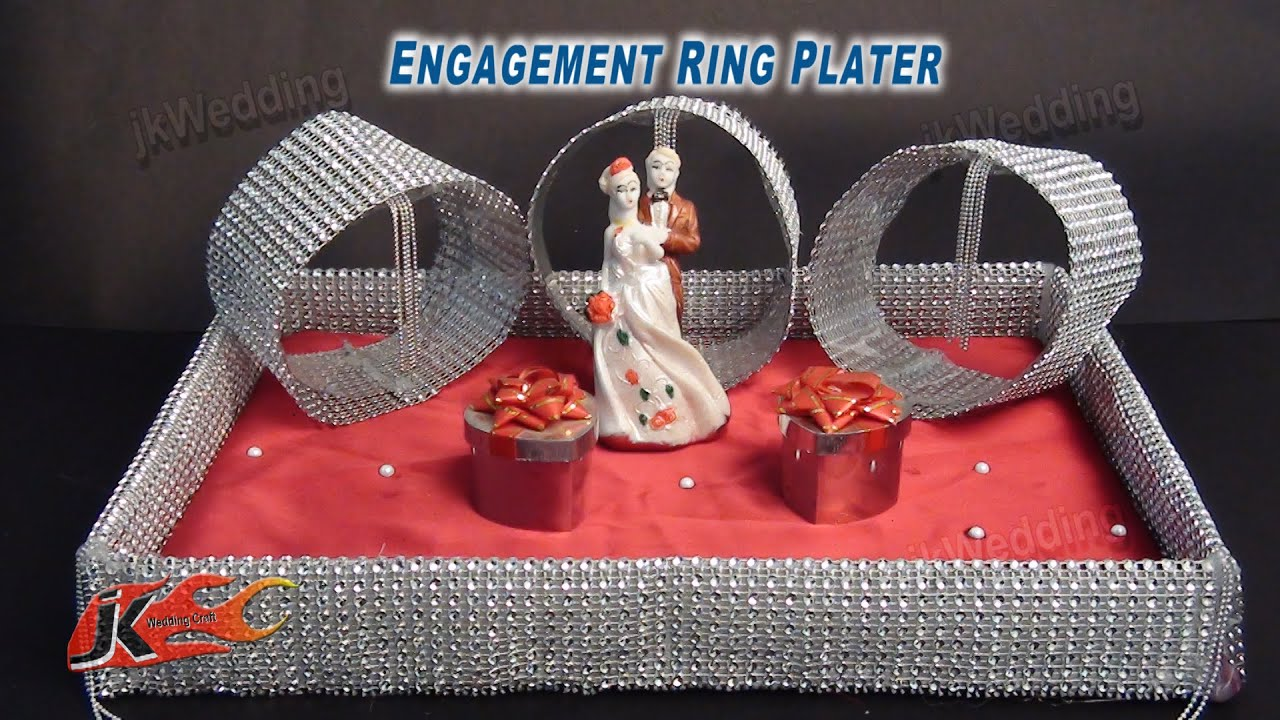 diy engagement wedding ring platter how to make jk wedding