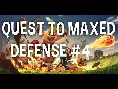 Quest to Maxed Defense #4 - Clans in REVERSE?! - I Gotta Use GEMS!