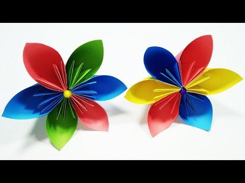 How to make a Kusudama Paper Flower  Very Easy origami Kusudama    DIY-Paper Crafts