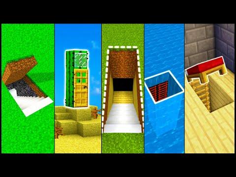 Download Minecraft How To Build A Secret Base Tutorial 2 Easy Hidden
