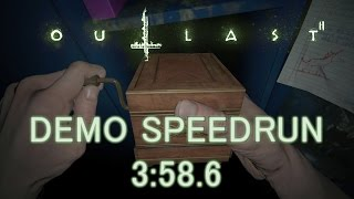 Outlast 2 Demo Speedrun Any% 3:58.6 (PC)