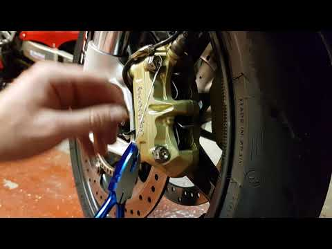 How to Lockwire brake caliper bolts BMW S1000RR - Part 4 How To Lockwire Series