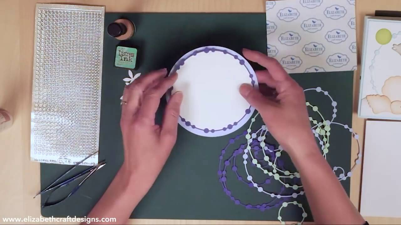 Beaded Circle Frames with Elizabeth Craft Designs - YouTube