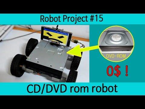 CD/DVD Robot1!  Arduino Car Robot Project#15.