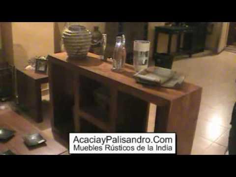 Venta de muebles rusticos y muebles de la india youtube - Muebles de la india ...