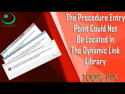How To Fix The Procedure Entry Point Could Not Be Located || Tricks Flood
