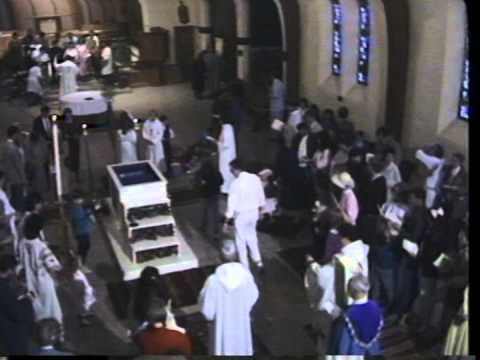 1990 Easter Vigil St. Mark's Episcopal Church Palo Alto (Part 2/3)
