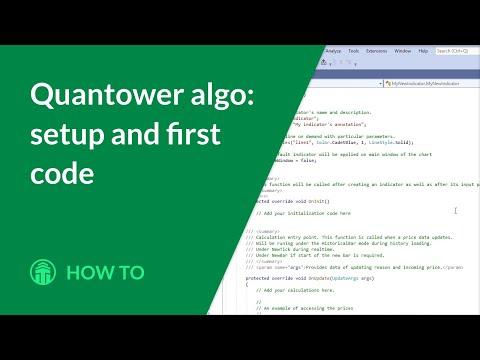 Quantower algo: setup and first code