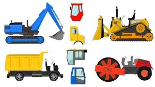 Assembling and repairing trucks - children's toys with street vehicles | What Cabin?