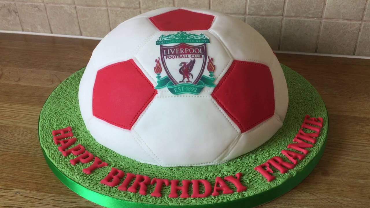 Football Birthday Cake Youtube