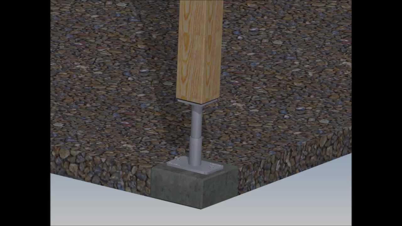 Stützfüße Pfostenträger Eurotec höhenverstellbar 140+50 mm Pedix Stützenfuß