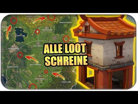 ALLE GEHEIME LOOT SCHREINE 🏮 | Fortnite Tipps und Tricks Deutsch German