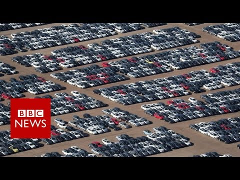 Volkswagen's car 'graveyard' in California - BBC News