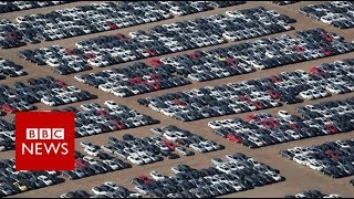 Volkswagen's car 'graveyard' in California - BBC News