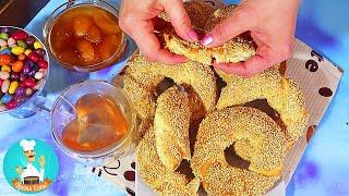 Симиты (турецкие бублики) - рецепт приготовления турецких булочек с кунжутом в духовке 🍜